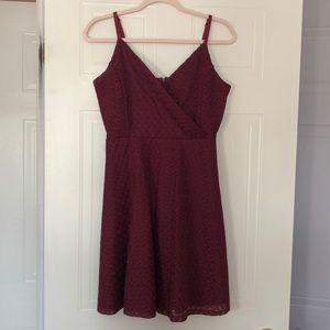 Le Chateau medium burgundy summer dress